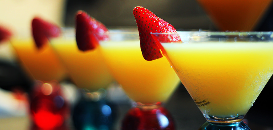 Mimosas are a simple, yet elegant cocktail.